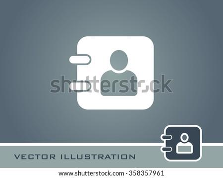 Diary Icon. Eps-10. - stock vector