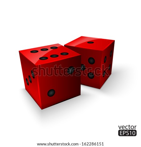 dice game - stock vector