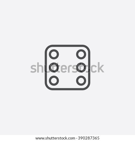 dice Icon, dice Icon Vector, dice Icon Art, dice Icon eps, dice Icon Image, dice Icon logo, dice Icon Sign, dice icon Flat, dice Icon design, dice icon app, dice icon UI, dice icon web, dice icon gray - stock vector