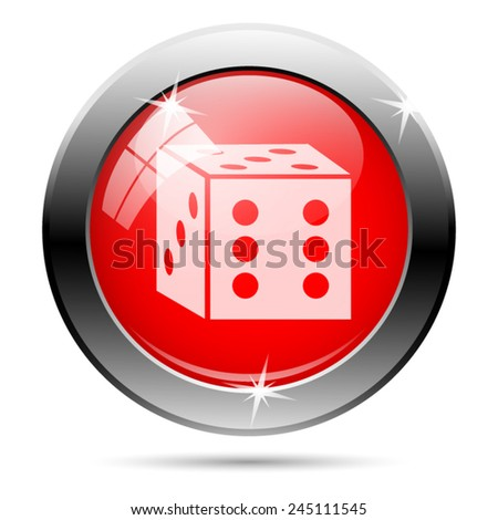 Dice icon. Internet button on white background.  - stock vector