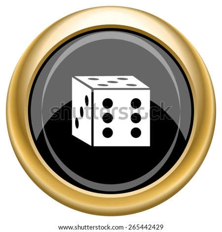 Dice icon. Internet button on white  background. EPS10 Vector.  - stock vector