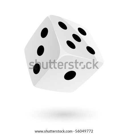 Dice isolated on white - stock vector
