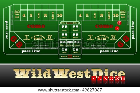 Dice table EPS 10 compatible vector