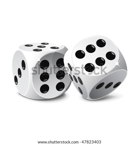 Dice, vector, easy to edit and manipulate - stock vector