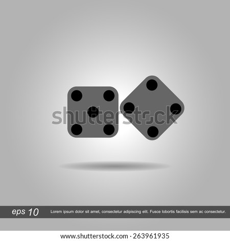 dices icon vector illustration eps10 on white background - stock vector