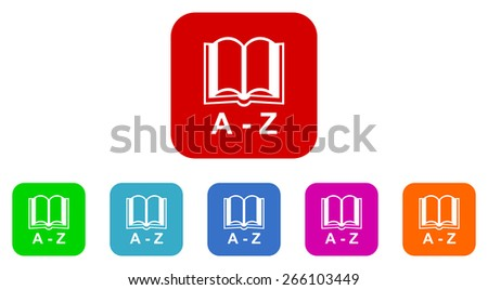 dictionary vector icons set - stock vector