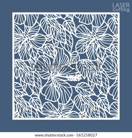 die laser cut ornamental panel floral stock vector royalty free