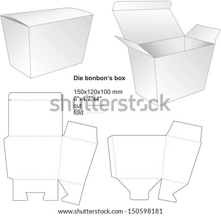 die bonbon box - stock vector