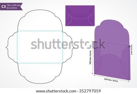 Envelope Template Images RoyaltyFree Images Vectors – Wedding Card Envelope Template