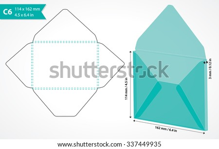 Envelope Template Stock Images, Royalty-Free Images & Vectors
