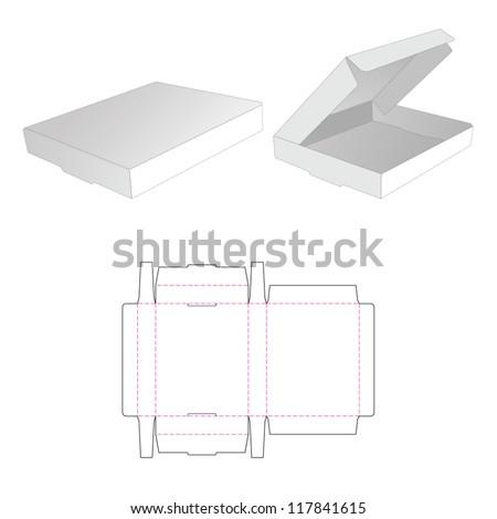 Die-cut package box - stock vector