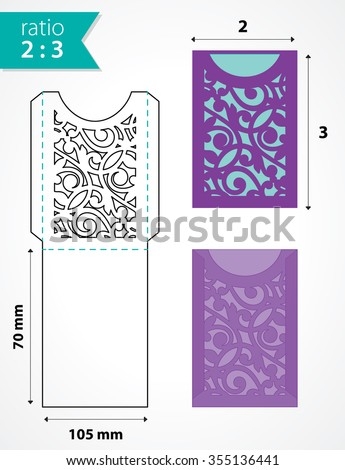 wedding envelope design template