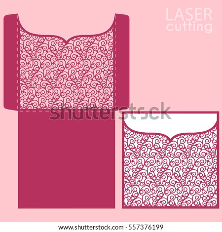 Vector Die Laser Cut Envelope Template Stock Vector 557376160