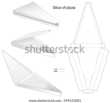 die stamp slice of pizza and cake - stock vector