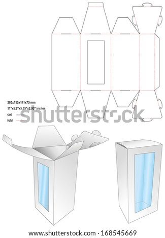 Die toy box - stock vector