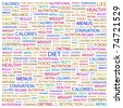 DIET. Word collage on white background. Vector illustration. Illustration with different association terms. - stock vector