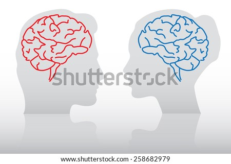 Differences between man and woman concept - stock vector