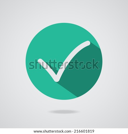 Different black vector check mark or tick in circle conceptual of confirmation acceptance positive passed voting agreement true or completion of task on a list. Flat illustration EPS10 - stock vector