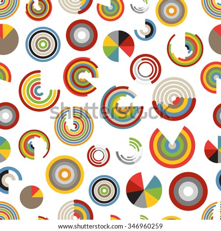 Different chart and indicators seamless pattern - stock vector