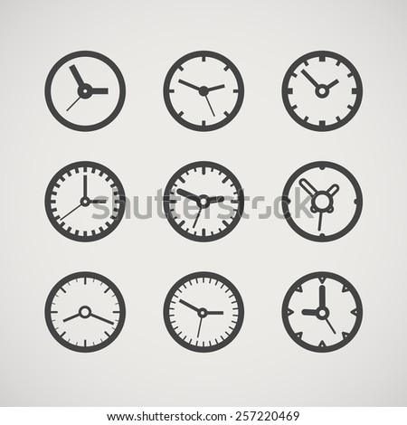 Different clocks collection  - stock vector