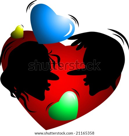 different colours of love - stock vector