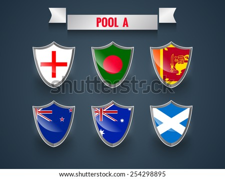 Different countries flags - stock vector