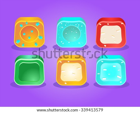 Different 3d candies for web, app and game. Vector illustration