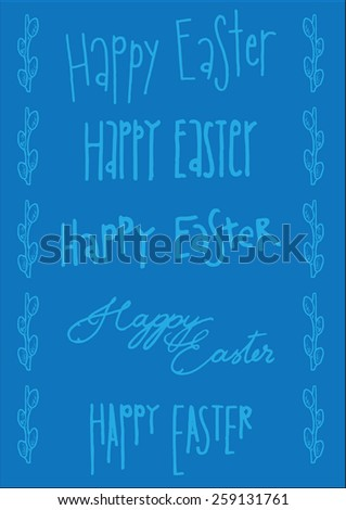 Different easter font types vector greeting stock vector hd royalty different easter font types in vector for greeting cards or background m4hsunfo