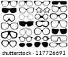 Different eyeglasses isolated - stock vector