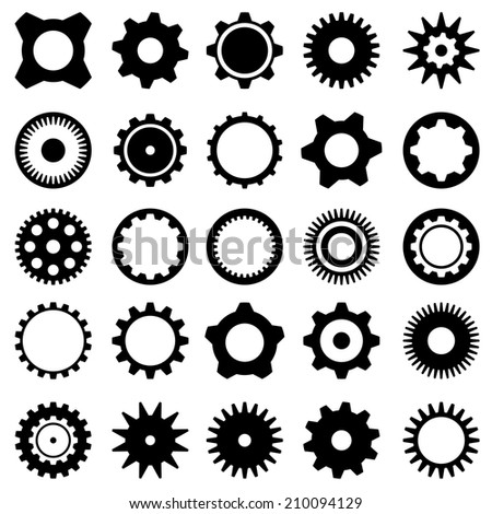 Different gears. - stock vector