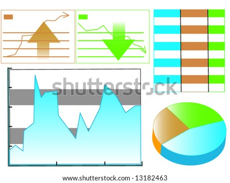 different kind graphical presentation stock vector 13182463