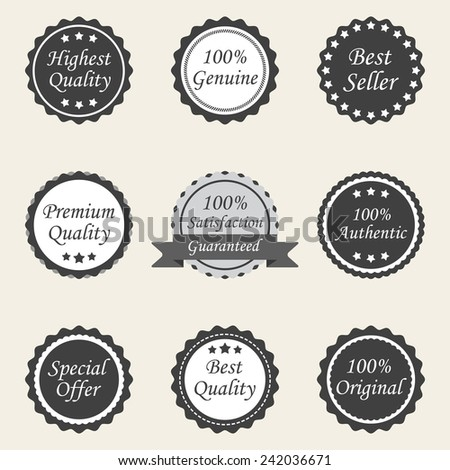 different labels - stock vector
