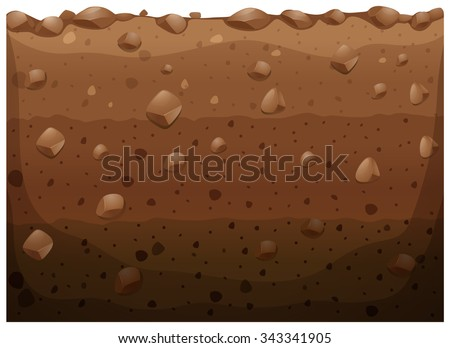 Different layer of the underground illustration - stock vector