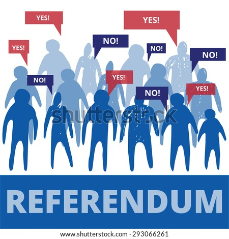 Different people has different opinions in referendum - stock vector