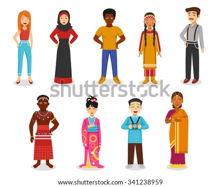 Vector three races as women stock illustration royalty free - Mongoloid Race Stock Images Royalty Free Images Amp Vectors