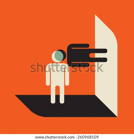 different position: find common point of intersection - stock vector
