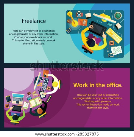 Different professions. This vector illustration made on bussiness theme in flat style.