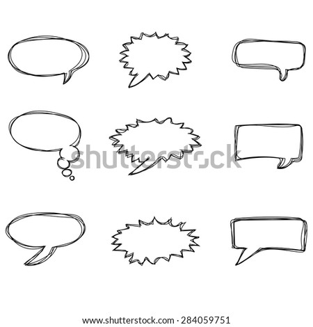 Different speech bubbles