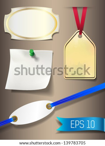 different style price tag, marker, label - stock vector