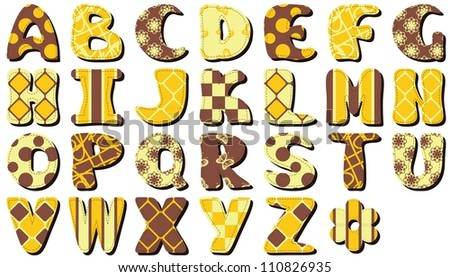 different styles of writing english alphabets