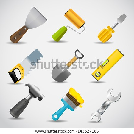 Different tools icon vector illustration set1 - stock vector