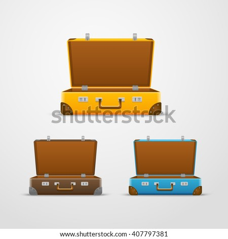 Different travel bags vector collection  - stock vector
