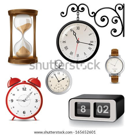 Clock Different Stock Vectors Vector Clip Art Shutterstock