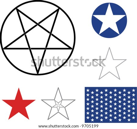 Different variations of stars - stock vector