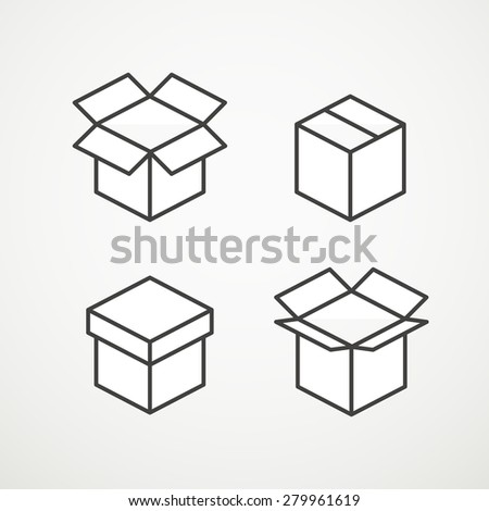 Different vector boxes collection - stock vector