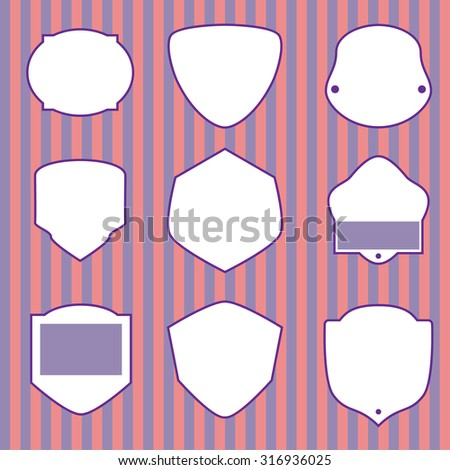 Different vintage empty frames - stock vector