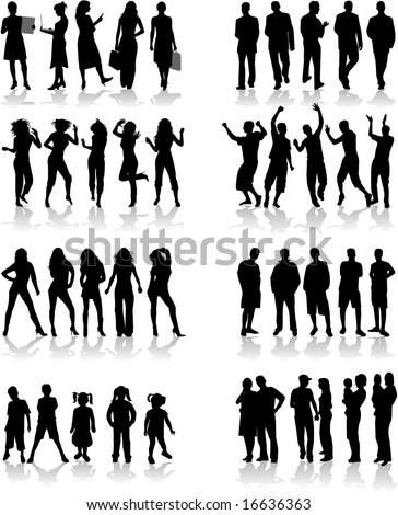 Different vital situations - stock vector