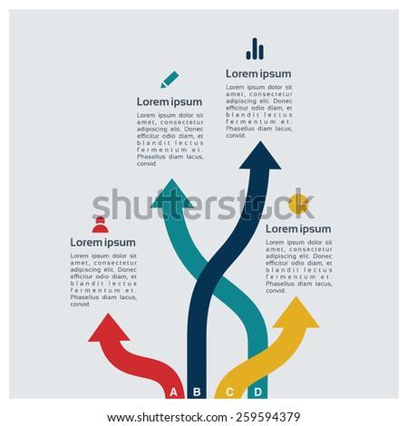 Different Way Infographics | Arrow infographics | EPS10 Vector - stock vector