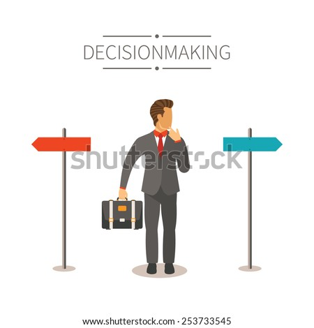 Different ways vector concept in flat cartoon style - stock vector