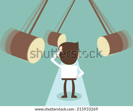 Difficult path like for a businessman  - stock vector